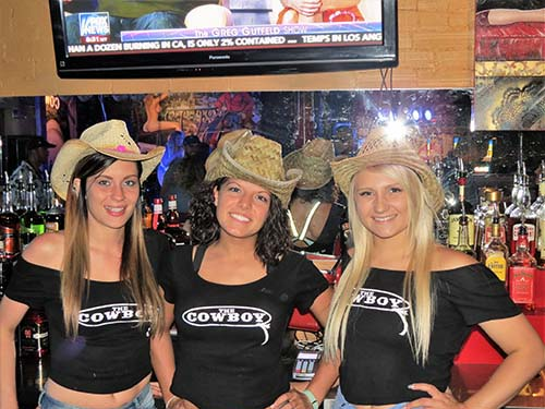 Three Bar Tenders at Cowboy Bar Buffalo